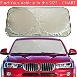 : Flyday Auto Car Sun Shade Foldable Windshield - Blocks UV Rays Sun Visor Protector, Sunshade To Keep Your Vehicle Cool, Fits Trucks SUVs Vans(Standard 63 x 33 inches)