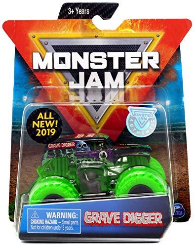 - MJ 2019 Spin Master Grave Digger Green Wheels 1:64