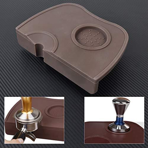 Holder Portafilter (FidgetFidget Espresso Tamper Barista Coffee Latte Art Pen Portafilter Holder Silicone Mat)