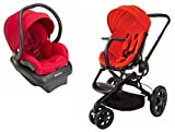 Quinny Moodd Stroller with BONUS 2015 Maxi-Cosi Mico AP Infant Car Seat, Red