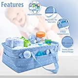 Gray Baby Diaper Caddy Organizer - | Large Gray