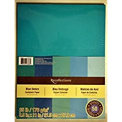 Cardstock Paper, Blue Ombre 8 1/2 x 11