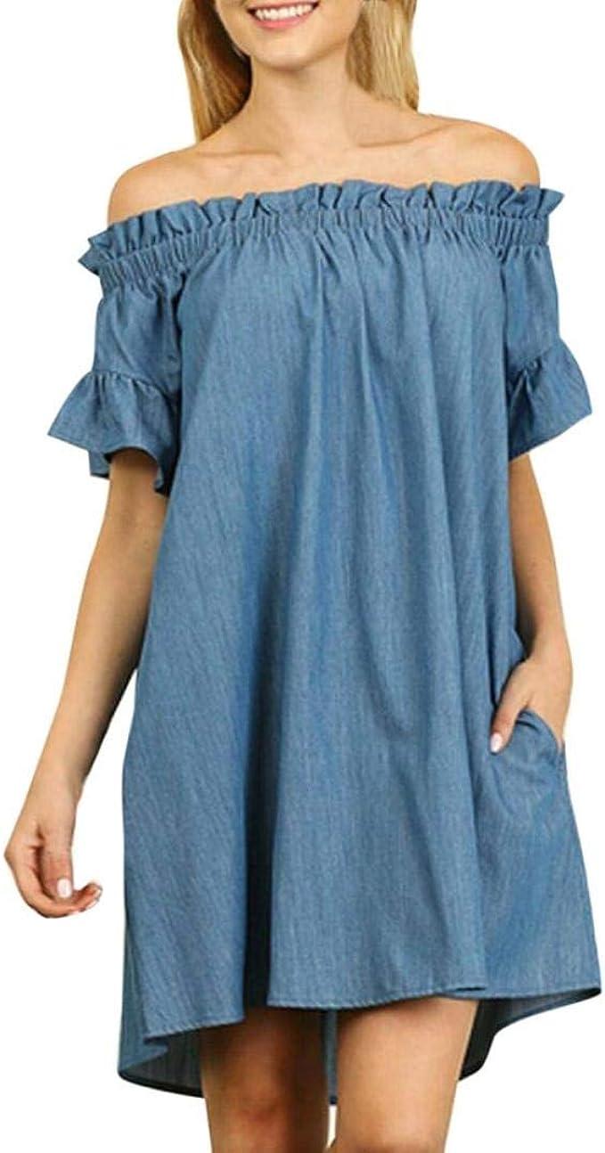 Vestido De Noche Para Mujer Vestido De Largo Mezclilla Vestido ...