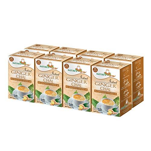 Nature's Guru Instant Ginger Chai Tea Drink Mix, Unsweetened
