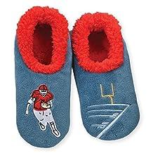 Snoozies Mens Mancave Classic Splitz Non-Skid Slipper Socks