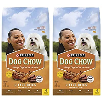 2 Bags of Purina Dog Chow Little Bites Real Chicken & Beef Adult Dry Dog Food - 4 lb. Bag ea