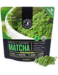 Jade Leaf Matcha Green Tea Powder - Organic, Authentic Japanese Origin - Culinary Grade - Premium 2nd Harvest [1oz]