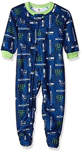 - NFL Seattle Seahawks Unisex Blanket Sleeper, Blue, 3T