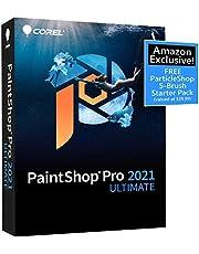 Corel PaintShop Pro 2021 Ultimate | Photo Editing & Graphic Design Software Plus Creative Collection | Amazon Exclusive 5-Brush Starter Pack [PC Disc] photo