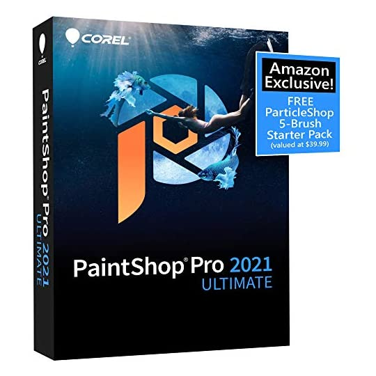 Corel PaintShop Pro 2021 Ultimate | Photo Editing & Graphic Design Software Plus Creative Collection | Amazon Exclusive…