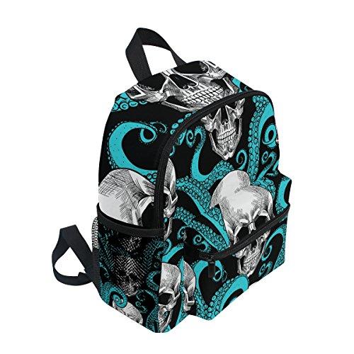 Sea nbsp;Toddler Skull Boys ZZKKO nbsp;School nbsp;Backpack nbsp;Bag Octopus nbsp;Girls nbsp;for nbsp;Book Kids HFddgwxqB