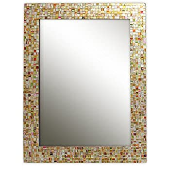 Eclectic Bohemian Rhapsody Rainbow Mirror -Golden Striped