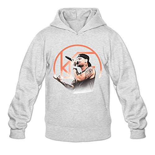 NIHAO Kane Brown Ain't No Stopping Us Now 100% Cotton Male Hoodies Light Grey XL (Kane Brown Ain T No Stopping Us Now)