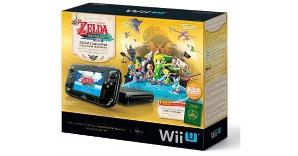 Nintendo Wii U Zelda Wind Waker HD Premium Pack - videoconsolas (Wii U, Negro, 802.11b, 802.11g, 802.11n, 1080i, 1080p, 480i, 480p, 720p, LCD, IBM PowerPC): Amazon.es: Videojuegos