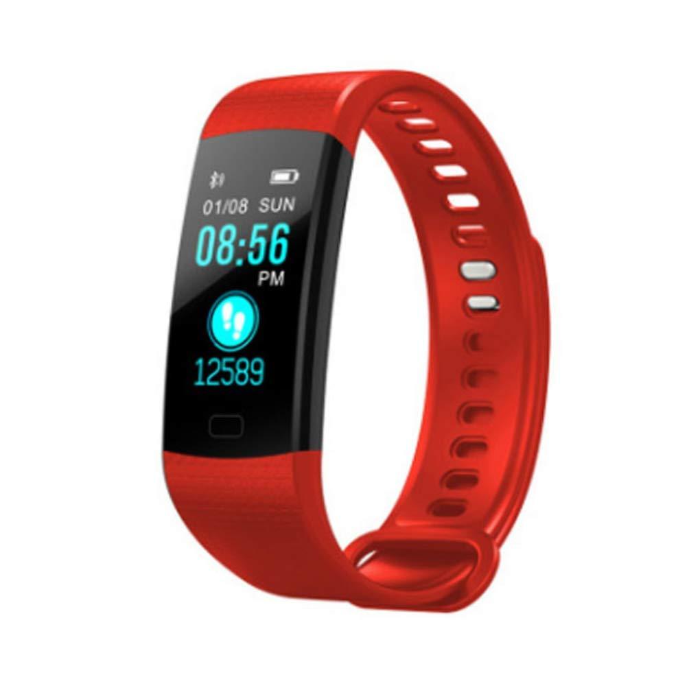 LJXAN Fitness Actividad Tracker Color Pantalla Smart Pulsera Ritmo Cardíaco Presión Arterial Oxígeno Salud Monitorización Bluetooth Deportes Paso Cronómetro Regalos