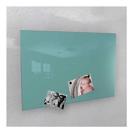 Colours-Manufaktur Magnetwand - türkis licht-grün glänzend * RAL 6027 * Hochglanz - 4 Verschiedene Größen - 40 x 60 cm ; 50 x