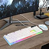 Gaming Keyboard and Mouse Combo, K1 LED Rainbow