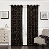 Eclipse 12427052084AUB Patricia 52-Inch by 84-Inch Blackout Grommet Single Curtain Panel, Aubergine