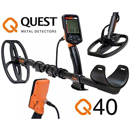 Quest Q40Q 40Combo Metal Detector cercametalli Plate Bag Gold...