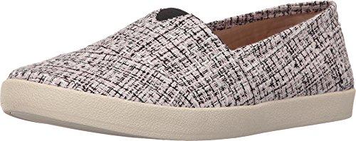TOMS Women's Avalon Slip-On Black/Pink Boucle Sneaker 5.5 B - Boucle Black