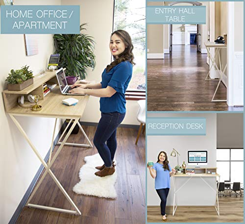 Joy Desk by Stand Steady - Modern Home Office Standing Desk Workstation with Storage Cubbies! - 47.5'' x 41.5'' by Stand Steady (Image #2)