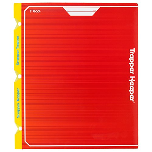 Mead Trapper Keeper Snapper Trapper 2-Pocket Portfolio with Prongs, 11.88 x 12 x .12 Inches, Red (72668)