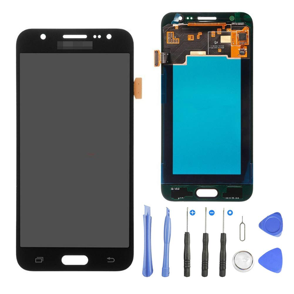 TOVE LCD Screen Display Touch Screen Digitizer Frame Assembly for Samsung Galaxy J5 2015 J500 J500F J500FN J500G J500H J500M J500Y Replacement,Repair Tool Kit(Black) by TOVE