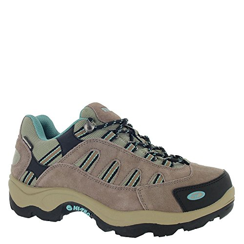 Bandera Leather - Hi-Tec Womens Taupe/Dusty Mint Leather Bandera Low WP Hiking Shoes 5M