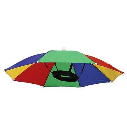Senderismo Pesca De Playa Golf Gorro Sombrero Plegable Paraguas Parasol