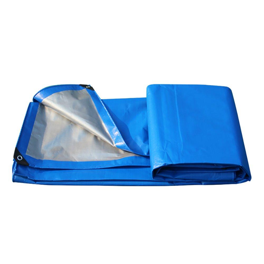 Zeltplanen Verdicken Sie Isolierung Blaues Silber-Doppelfarben-Regenschutztuch-wasserdichter Sunscreen-Planen-Überdachungs-Stoff-Plastikstoff-LKW-Plane