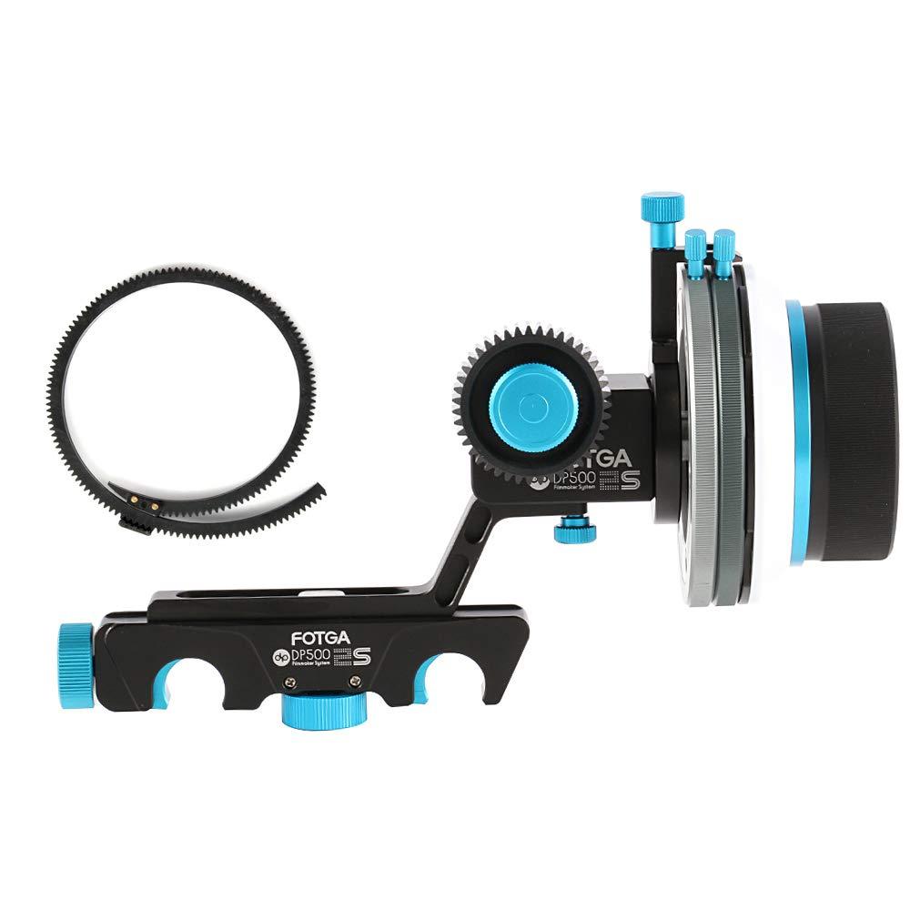 Fotga Upgrade DP500IIS Quick Rlease Dampen Follow Focus A/B Hard Stop for 15mm Rail DSLR Rig 5DII III IV 7D D90 D5 D500 D850 DSLR Camera, A7 A7R A7S II III A9, GH4/5/5S by FOTGA