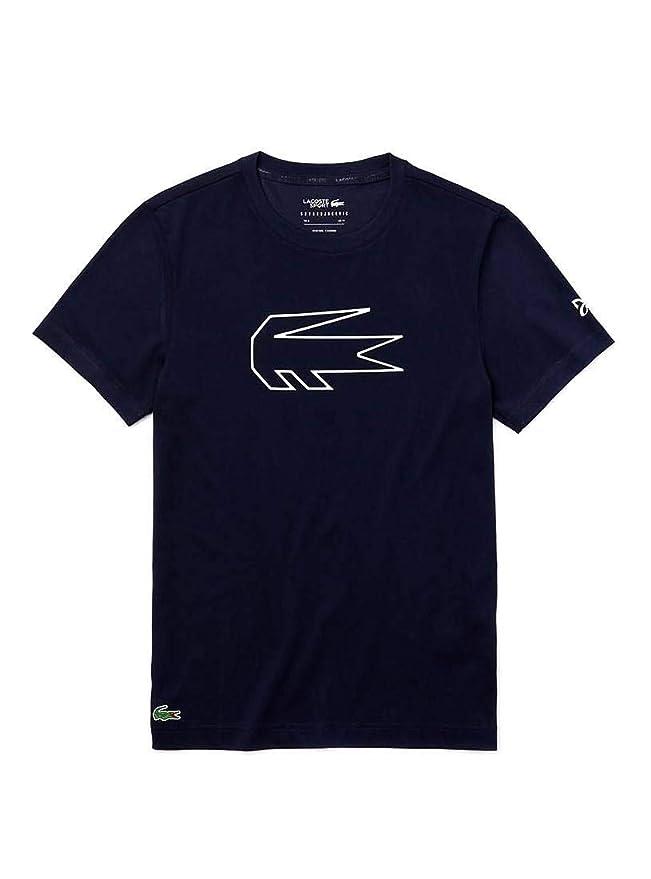 Lacoste Camiseta Novak Djokovic Azul Hombre: Amazon.es: Ropa y ...