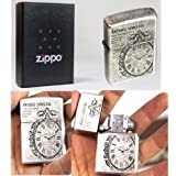 Zippo Antique Timeless Nickel Lighter Made in USA / GENUINE and ORIGINAL Packing