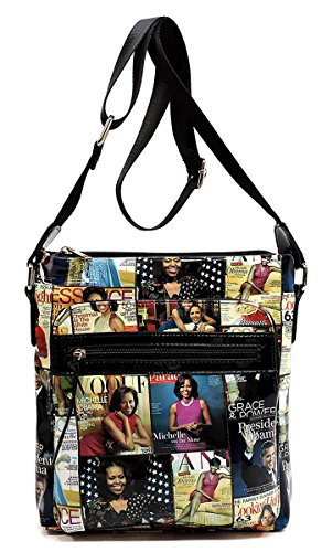 Michelle Magazine 26 Cover Bag Bag Shoulder Glossy Obama Body multi Cross Messenger Collage Bag gqcCz