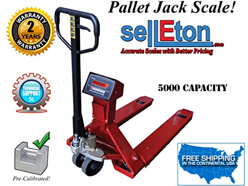 OP-918 Industrial Warehouse Pallet Jack Scale with 5000 X 1 Lb