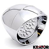 "Krator 7"" Chrome LED Headlight Cruiser Low and High Beam for Suzuki Intruder Volusia VS 700 750 800 1400 1500"