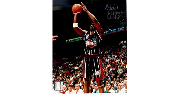 9c2447ccd17cc Eddie Johnson Signed Autographed Houston Rockets 8x10 Photo TRISTAR ...