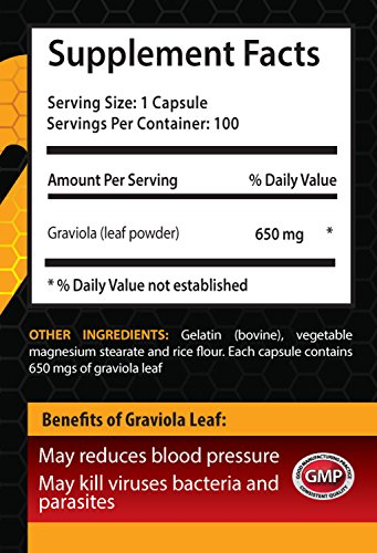 Liver care supplement - GRAVIOLA EXTRACT - Vitamins b - 6 Bottles 600 Capsules by HS PRIME (Image #1)