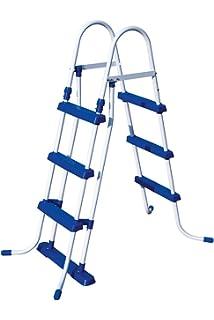 Bestway 58330 - Escalera para piscinas de 107 cm, sin plataforma