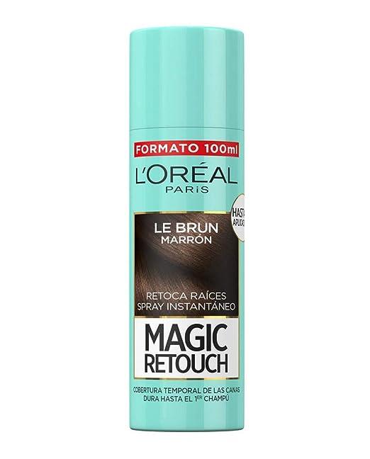 LOréal Paris Magic Retouch Spray Retoca Raíces, castaño oscuro, 100 ml