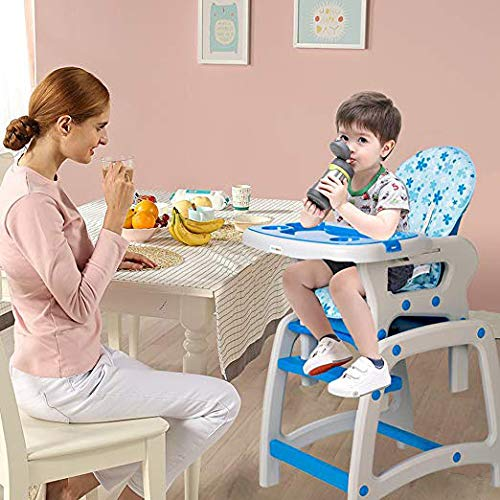 Dearbebe 3-in-1 Infant High Chair with Tray,Blue by Dearbebe (Image #2)
