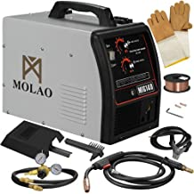 SUNCOO 140 MIG Welder Inverter DC Flux Core Wire Automatic Feed Welding Machine Gas/No Gas 115 Volt with Free Mask Grey