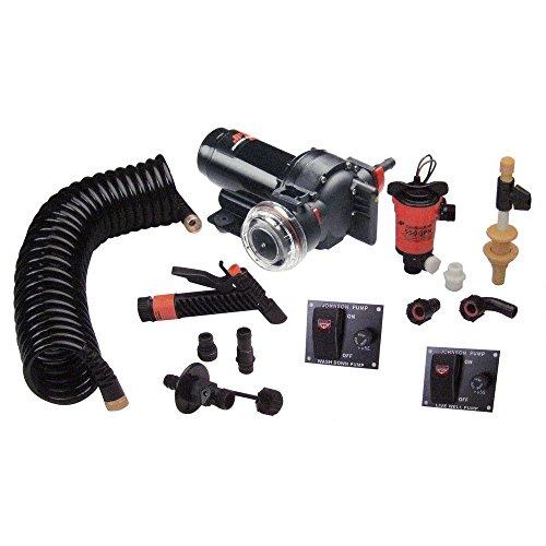 Johnson Pumps 64634 Aqua Jet 5.2 GPM Wash Down/550 Live Well Kit