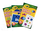 Bundle - 3 Items - Crayola Flash Cards: Colors and Shapes, Color Connect, Same or Different