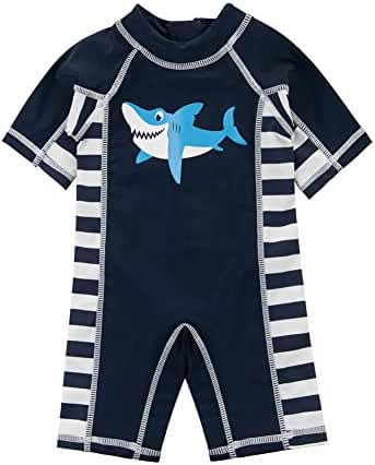 Wishere Kids Boys Swimsuit UPF 50+ UV Sun Protective One-Piece Rash Guard …