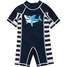 Sansi Kids Boys Swimsuit UPF 50+ UV Sun Protective One-Piece Rash Guard …