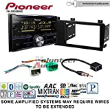 Volunteer Audio Pioneer FH-X830BHS Double Din Radio Install Kit with CD Player Bluetooth HD Radio Fits 2005-2007 Volvo S60, V70, XC70