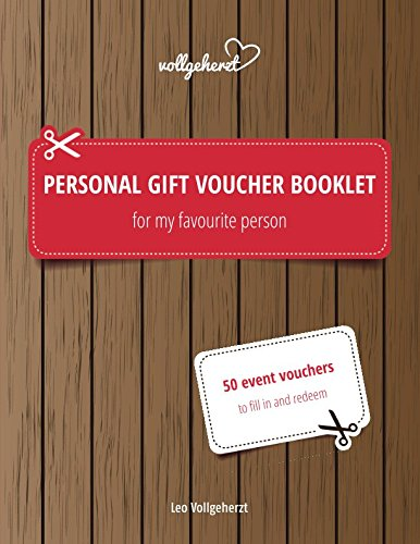 Personal gift voucher booklet for my favourite person: 50 event vouchers to fill in and - Coupon Booklet