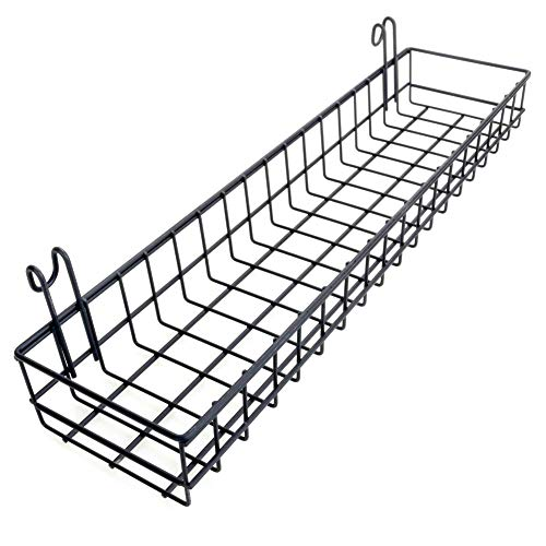 Ciao Life Hanging Basket for Wire Wall Grid Panel Hanging Tray, Wall Storage and Display Basket