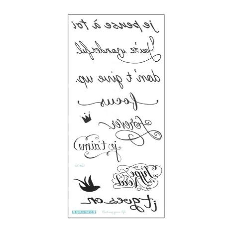 BHTWS Letra Inglesa Etiqueta engomada del Tatuaje a Prueba de Agua ...